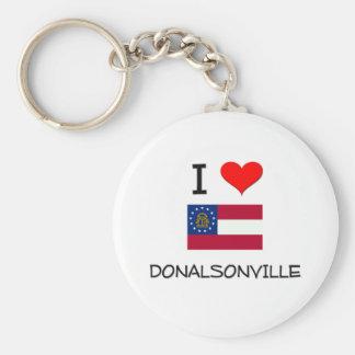 I Love DONALSONVILLE Georgia Key Chains
