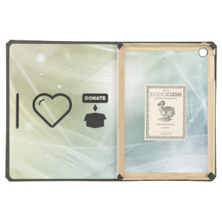 I Love Donate Foods Cover For iPad Air
