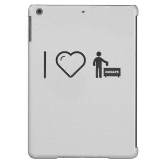 I Love Donate Monies Case For iPad Air