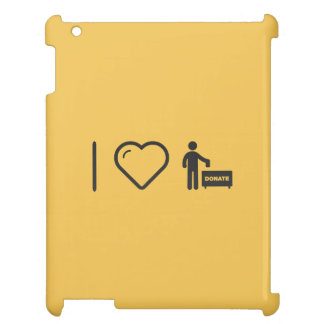 I Love Donate Monies iPad Case