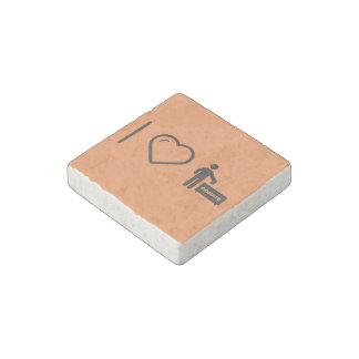 I Love Donate Monies Stone Magnet