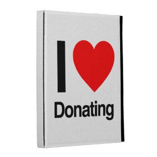 i love donating iPad folio cases