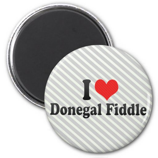 I Love Donegal Fiddle 2 Inch Round Magnet