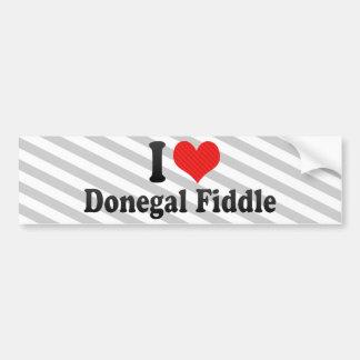 I Love Donegal Fiddle Bumper Stickers
