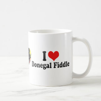 I Love Donegal Fiddle Classic White Coffee Mug