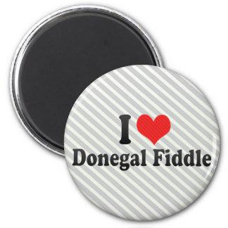 I Love Donegal Fiddle Refrigerator Magnets