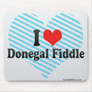 I Love Donegal Fiddle Mouse Pad