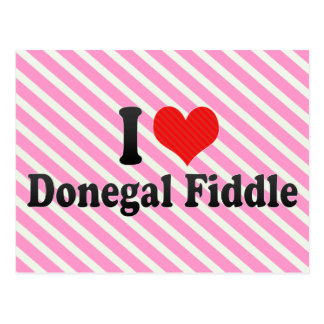 I Love Donegal Fiddle Postcard