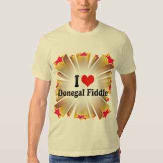 I Love Donegal Fiddle T-shirts