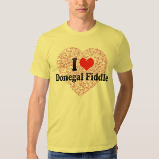 I Love Donegal Fiddle Tshirt