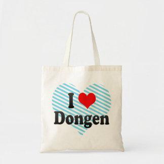 I Love Dongen, Netherlands Canvas Bags