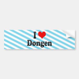 I Love Dongen, Netherlands Bumper Sticker