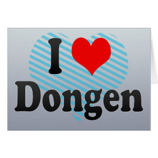 I Love Dongen, Netherlands Greeting Card