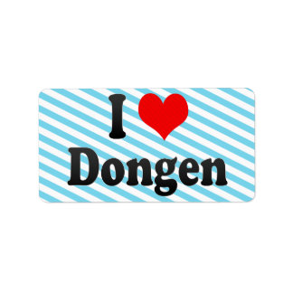 I Love Dongen, Netherlands Personalized Address Labels