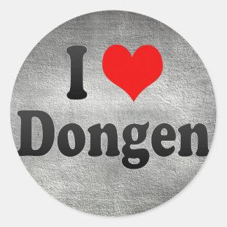 I Love Dongen, Netherlands Round Stickers