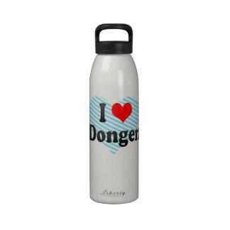 I Love Dongen, Netherlands Reusable Water Bottle