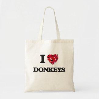 I love Donkeys Budget Tote Bag