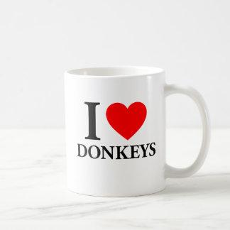 I Love Donkeys Coffee Mug