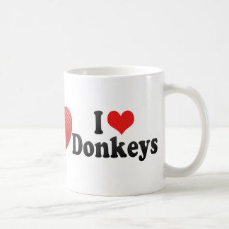 I Love Donkeys Coffee Mugs