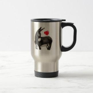 I Love Donkeys Demure Donkey 15 Oz Stainless Steel Travel Mug