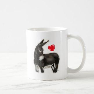 I Love Donkeys Demure Donkey Classic White Coffee Mug