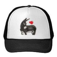 I Love Donkeys Demure Donkey Mesh Hat