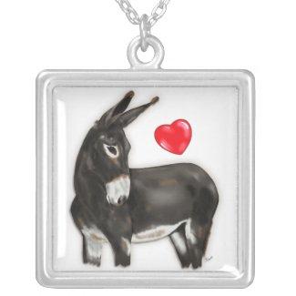 I Love Donkeys Demure Donkey necklace