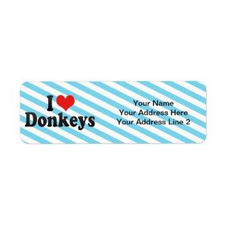 I Love Donkeys label