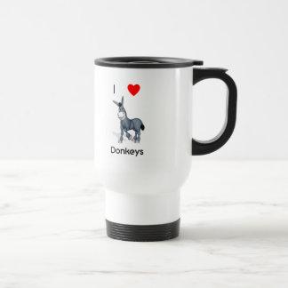 I love donkeys travel mug
