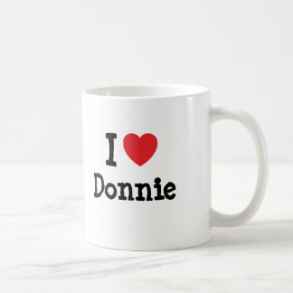 I love Donnie heart custom personalized Coffee Mugs