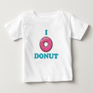 I Love Donut Pink Design Baby T-Shirt
