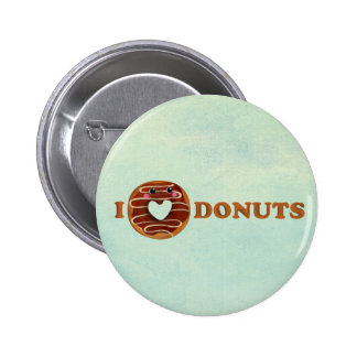 I love Donuts Pinback Buttons