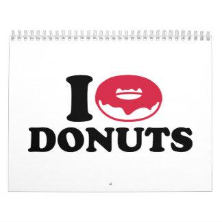 I love donuts wall calendars