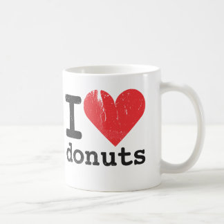 I love donuts Classic White Mug