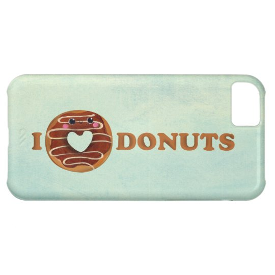 I love Donuts Cover For iPhone 5C