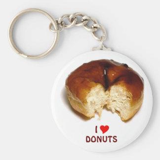 I Love Donuts Key Chains