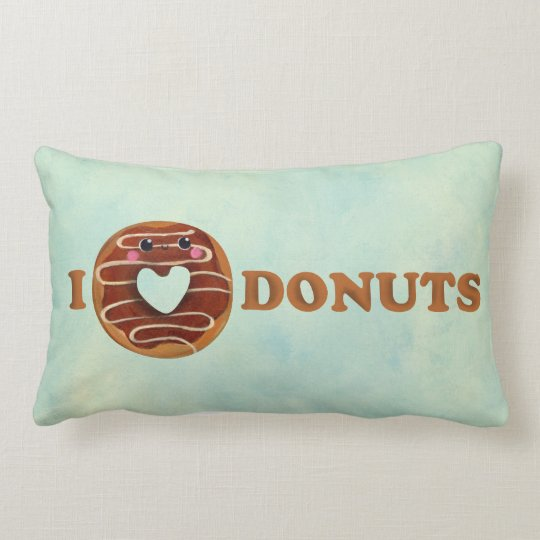 I love Donuts Lumbar Pillow