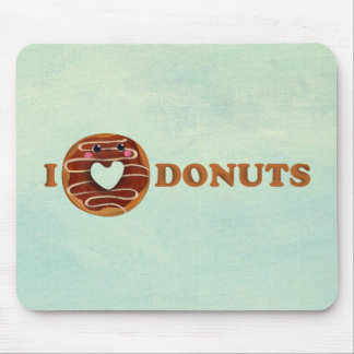 I love Donuts Mouse Pad