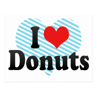 I Love Donuts Postcard