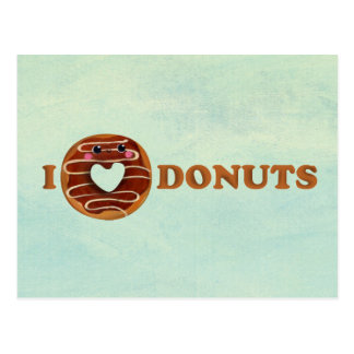 I love Donuts Postcard