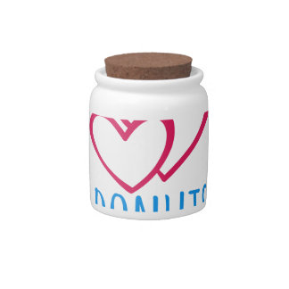 I love donuts poster. candy jar