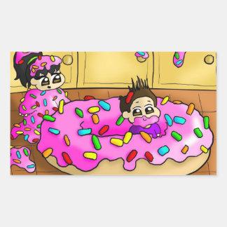 I love donuts!!! rectangular sticker