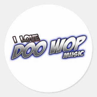 I Love DOO WOP music Classic Round Sticker