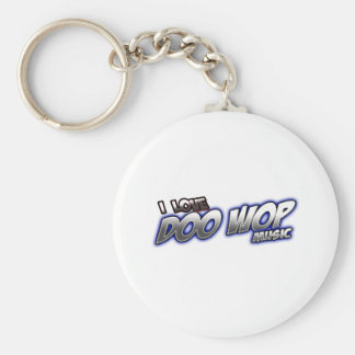 I Love DOO WOP music Keychain