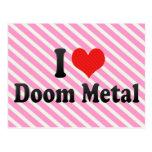 I Love Doom Metal Post Cards