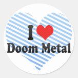 I Love Doom Metal Sticker