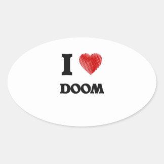 I love Doom Oval Sticker