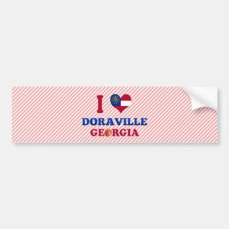 I Love Doraville, Georgia Car Bumper Sticker