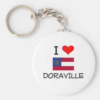 I Love DORAVILLE Georgia Basic Round Button Keychain