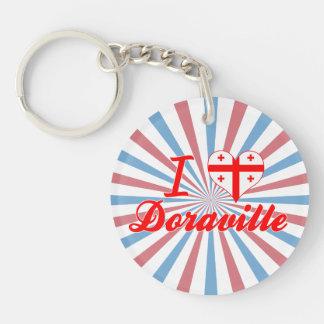 I Love Doraville, Georgia Single-Sided Round Acrylic Keychain